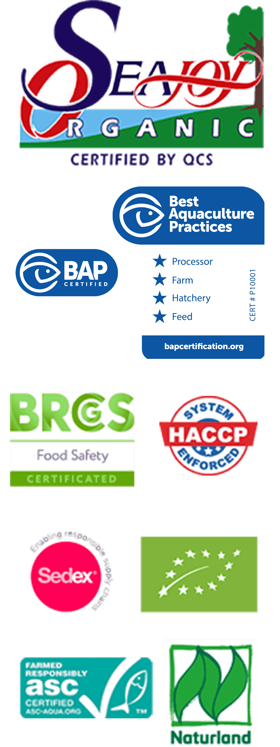 Seajoy Certifications
